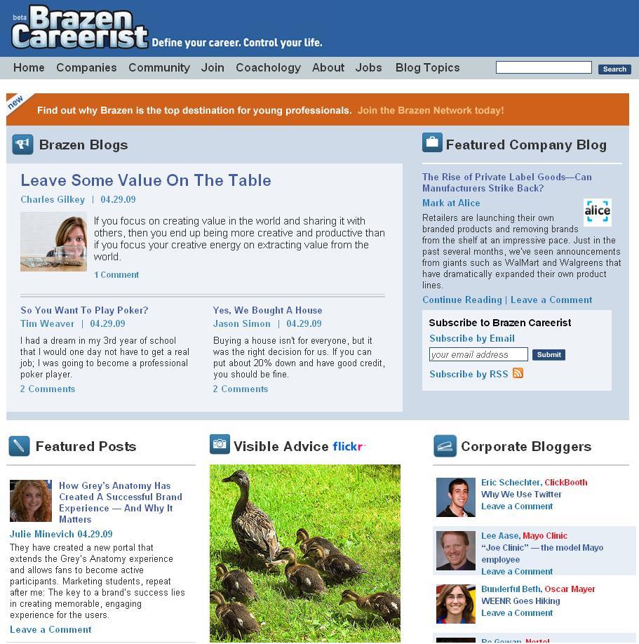 Brazen Careerist Home Page 04 29 2009