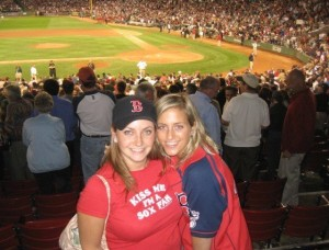 Julie Minevich & Lesley Angellis at Fenway Park