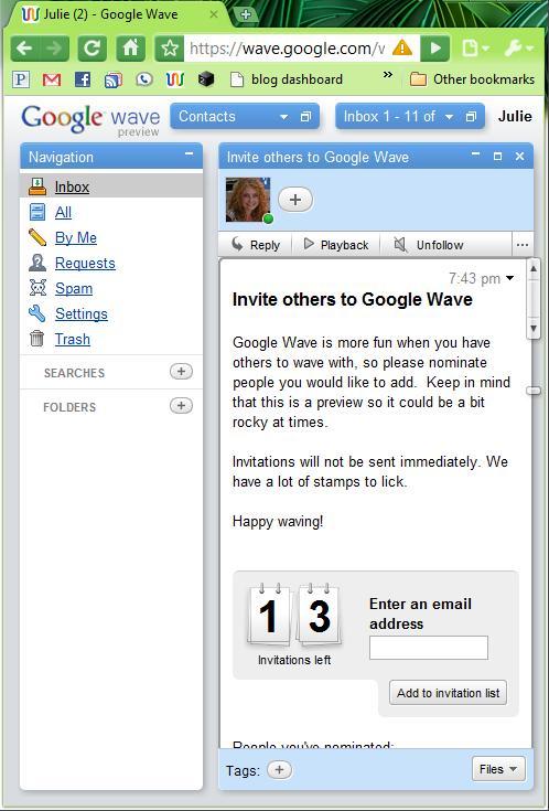 googlewaveinbox